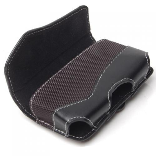 Leather Flip Pouch Case for Motorola Razr V3 V3c-Black