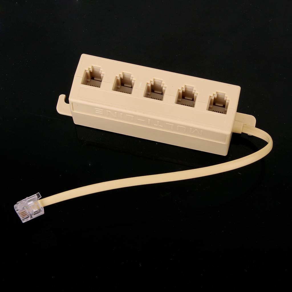5 Ports Telephone Line Splitter Modem 6.5 inch