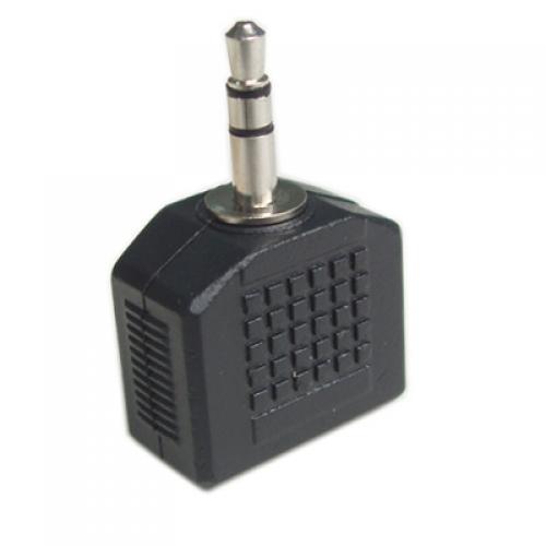 Black 3.5mm Earphone Jack Splitter Adapter for iPod