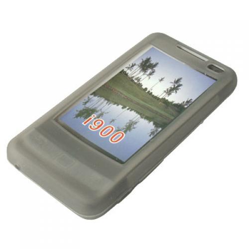 Grey Silicone Skin Case for Samsung Omnia i900