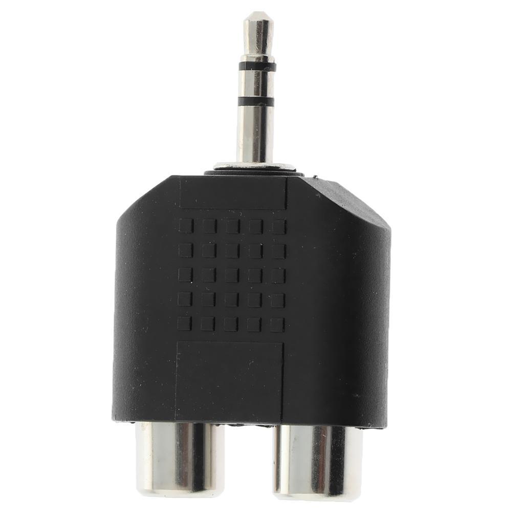 Gold Plated 3.5mm Stereo Jack Plug to 2 RCA Phono Socket