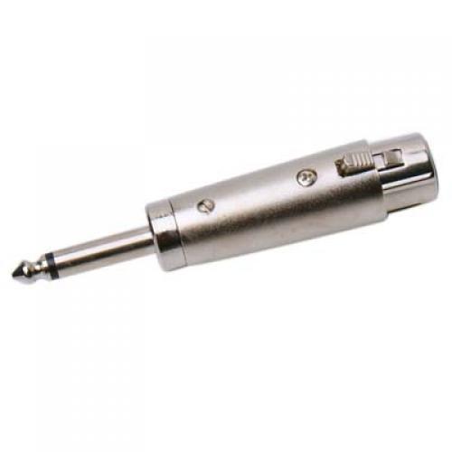 3 pin XLR Female to 6.3mm Mono Plug Adapter