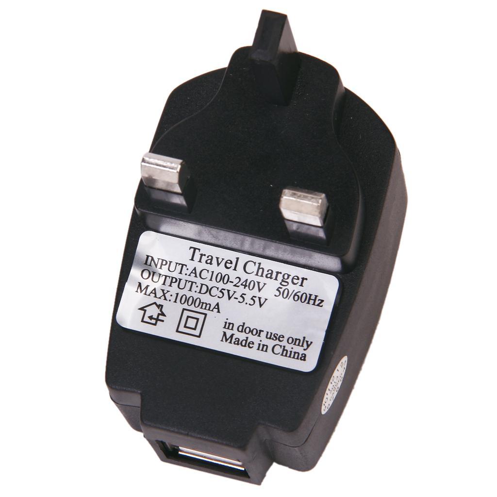 5V 1A Dual USB Plug Wall / Home Charger AC Adapter (UK Standard)