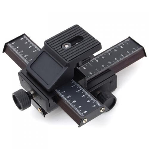 4 Way Macro Focusing Rail Slider for Canon Nikon Pentax Olympus Panasonic Kodak Cameras