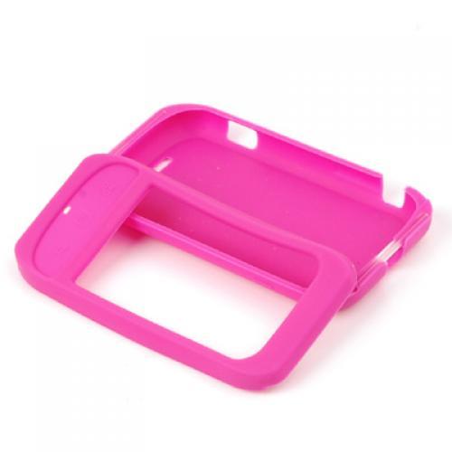 Hot Pink Silicone Case for Motorola Cliq