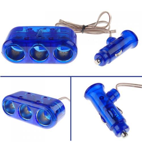 Car Cigarette Lighter Adapter Charger 3 Socket 12V 5A