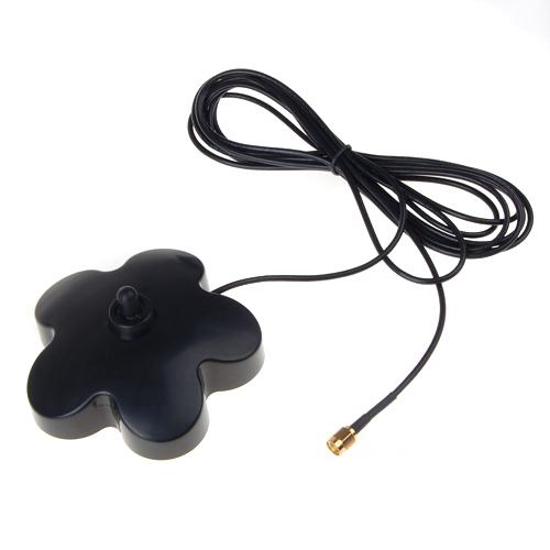 Plumblossom Shape RP SMA Male to RP-SMA Female 3M RG174 Antenna Socket