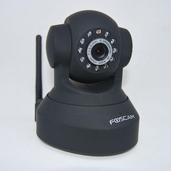 黑色无线互联网监视摄像头 欧规电源适配器