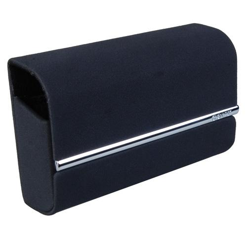 Black Camera Carrying Case for Sony DSC-W350D TX5- Peach-skin Finish