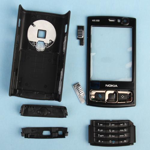 Full Housing Cover w/ Keypad for Nokia N95 8GB - Black