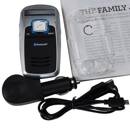 Solar Powered Handsfree Bluetooth Car Kit MP3 FM Player