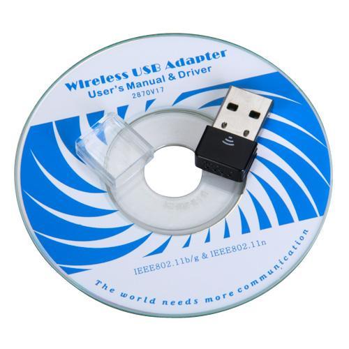 Black Mini 150Mbps USB WiFi Wireless LAN 802.11N Adapter
