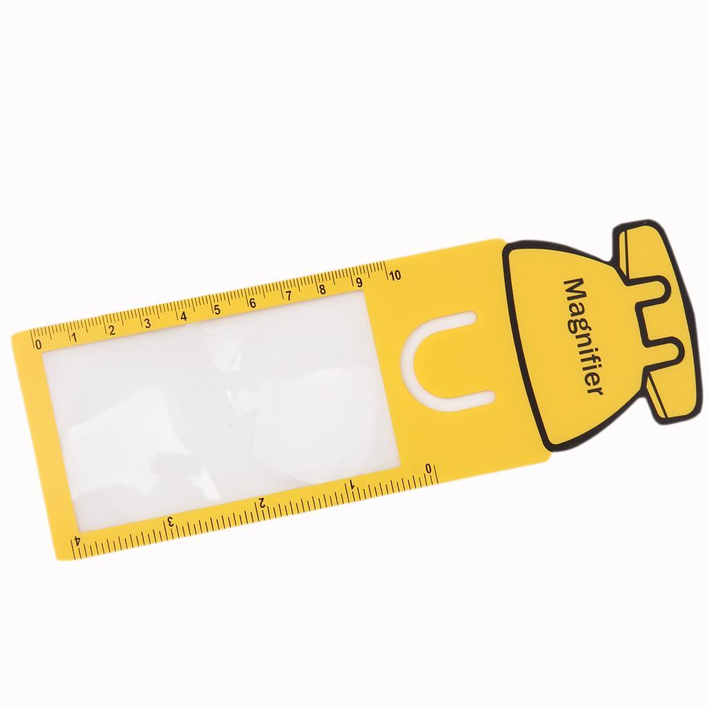 Pocket Ruler Magnifier Sheet Magnifying 3X Magnification