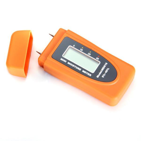 Digital LCD 2-Pin Wood Moisture Meter Damp Wall Tester Detector
