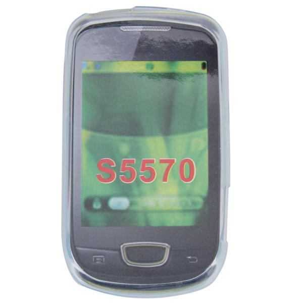 Silicone Skin Cover Case for Samsung Galaxy Mini S5570 - White