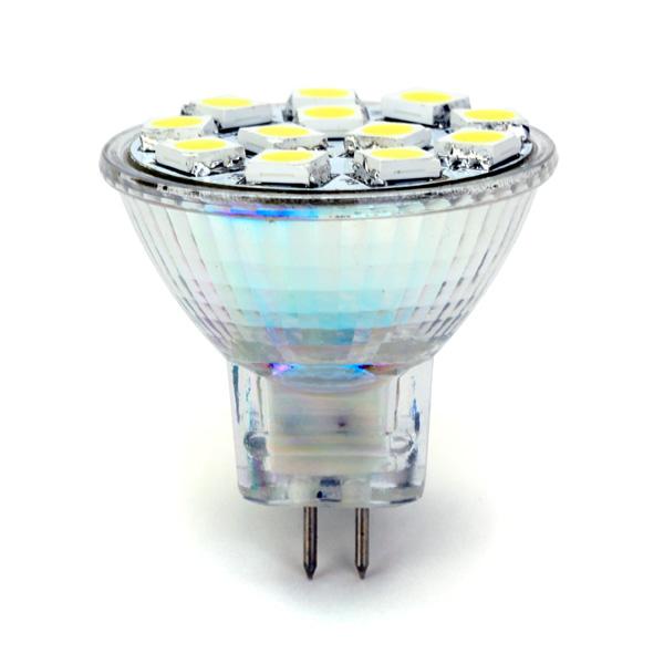 MR11 5050-SMD 12-LED White Light Lamp