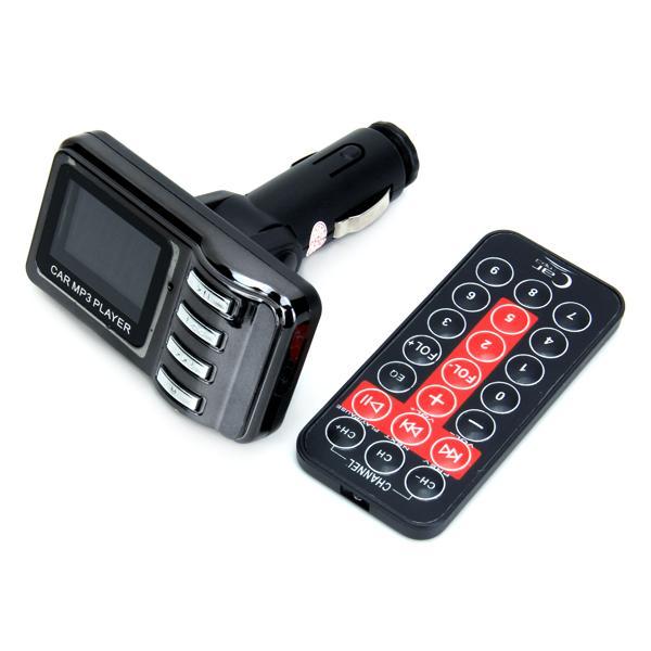 Car Kit TV Shape LCD MP3 Player Wireless FM Transmitter Modulator - Black