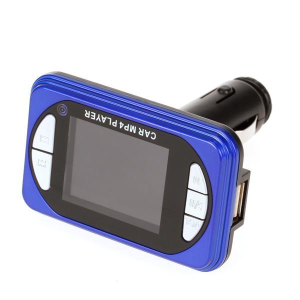 Protable Car Kit MP4 Player Wireless FM Transmitter Modulator + 4GB TF Card - Blue
