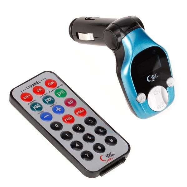 Xiao HuangFeng Car Kit MP3 Player Wireless FM Transmitter Modulator + 2GB TF Card - Blue