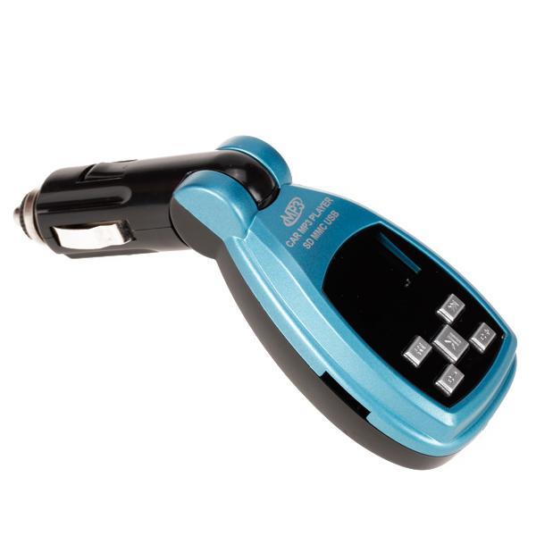 Car Kit MP3 Player Wireless FM Transmitter Modulator SD/MMC/USB + 4GB TF Card - Blue
