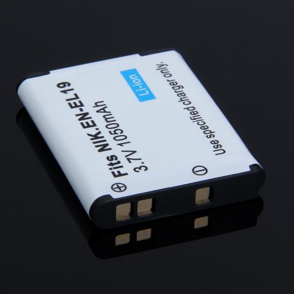 1050mAh Replacement EN-EL19 Recgargeable Li-ion Battery for Nikon CoolPix S2500 S4100 S3100 Camera