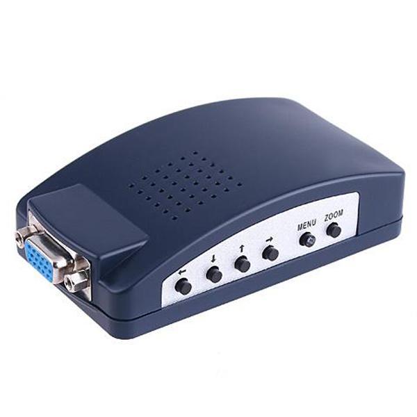 PC Laptop VGA to PC TV VGA RCA S-video BNC AV Converter Adapter
