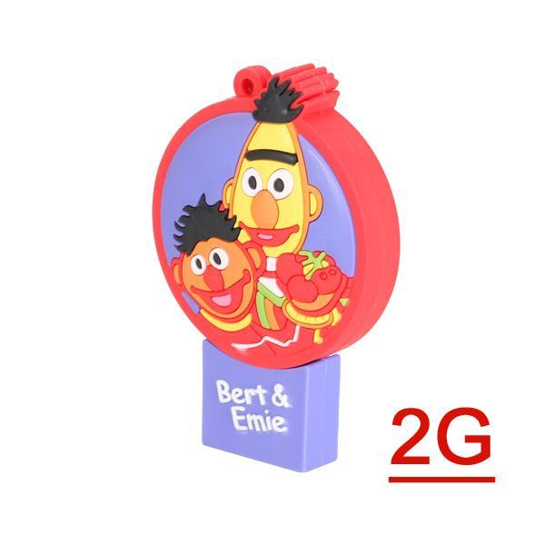 2 GB USB 2.0 Cartoons Figure Bert & Ernie Flash Drive Pen Drive Disk Memory