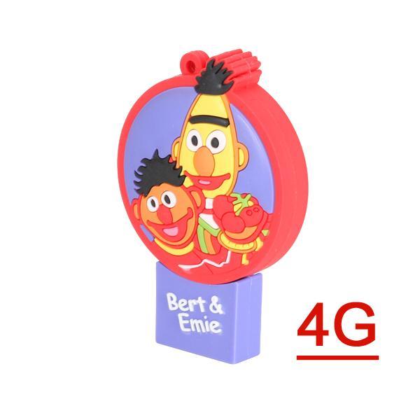 4 GB USB 2.0 Cartoons Figure Bert & Ernie Flash Drive Pen Drive Disk Memory