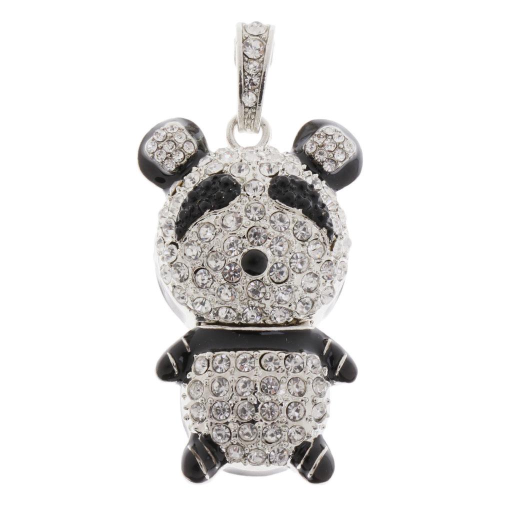 16 GB USB 2.0 Glitter Rhinestone Panda Flash Drive Flash Disk Pen Drive