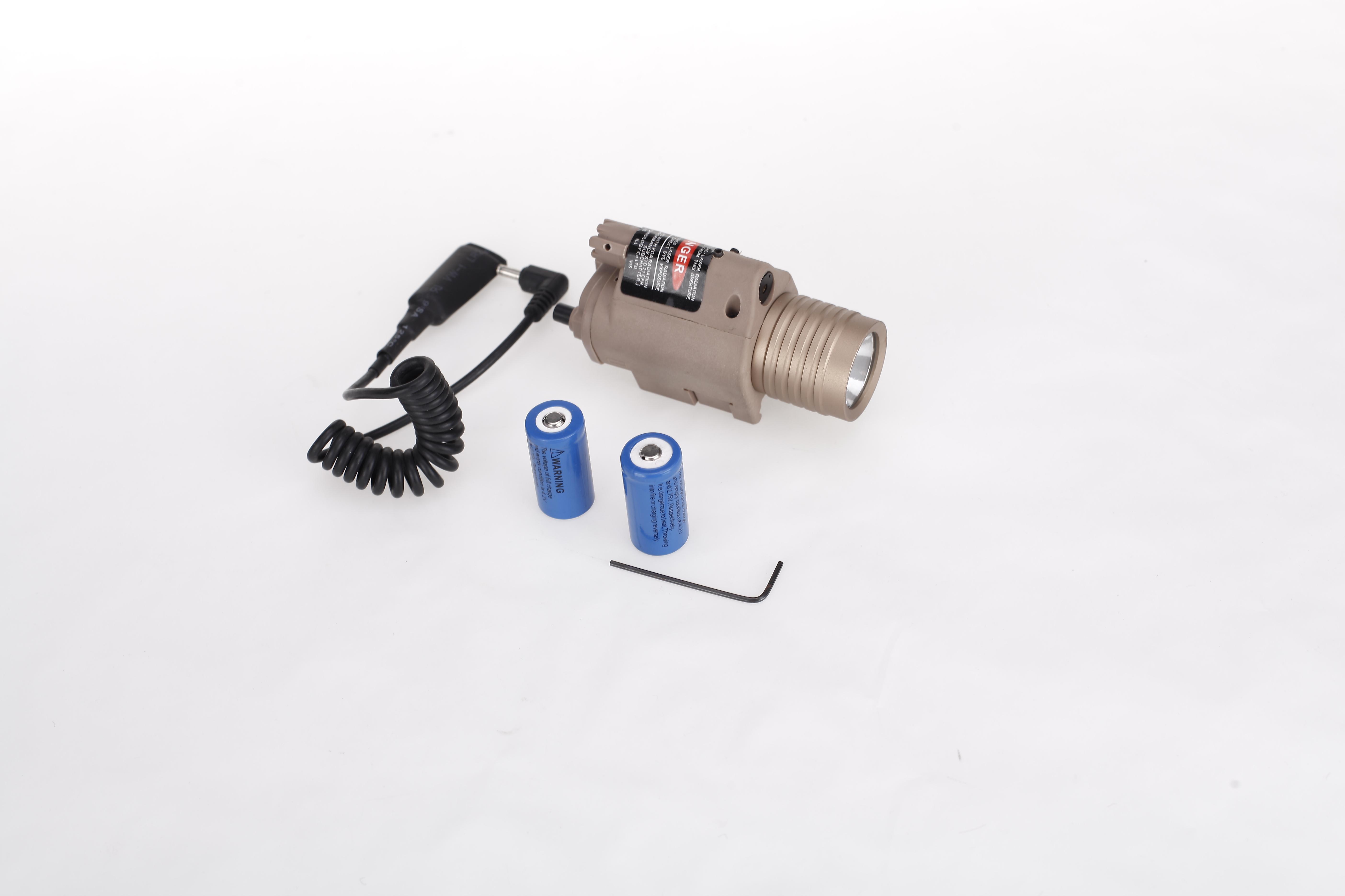 3MW Red Laser Sight Laser Scope with LED Flashlight