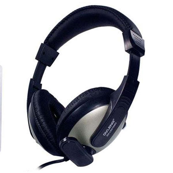 OV-L8013MV 3.5mm Headset Headphone with Mic for PC / Laptop / MP3 / MP4 - Black