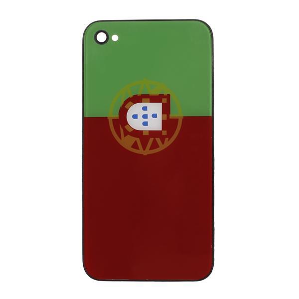 Portugal National Flag Back Cover Housing Battery Door for Apple iPhone 4G Black