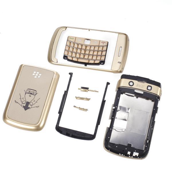 Full Set Mobile Phone Housing Case Cover for Blackberry Bold 9700 - Golden