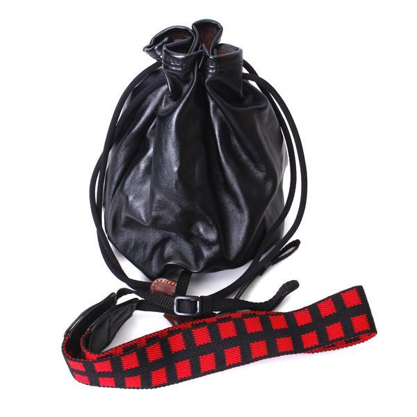 PU Leather Drawstring Bag Case Pouch for DSLR SLR Camera - Size XL