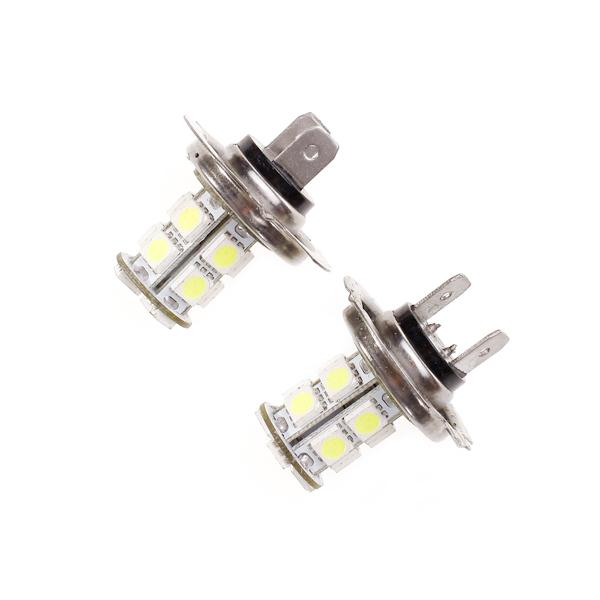 2 PCS DC 12V Car Vehicle H7 White LED Bulb Head Light Fog Bulb Lamp