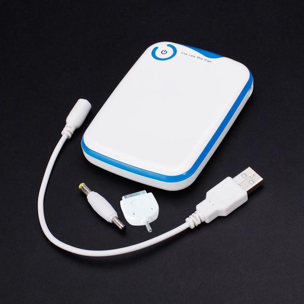 5000mAh Universal Portable External Battery Power Bank for iPhone / iPad / iPod / Smart Phone - White