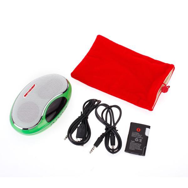 Portable Digital Speaker with TF Slot / USB Port /FM Radio - Green