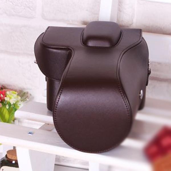 Brown PU Leather Camera Bag Case for Nikon D5100 D5000 (18-55mm)
