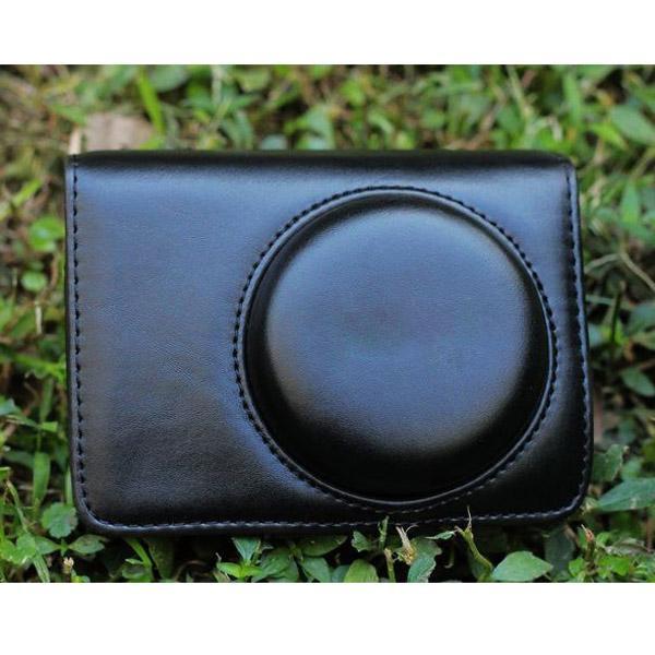 PU Leather Bag Case w/ Strap for Panasonic LX3 LX5 / Leica D-LUX4 D-LUX5 - Black