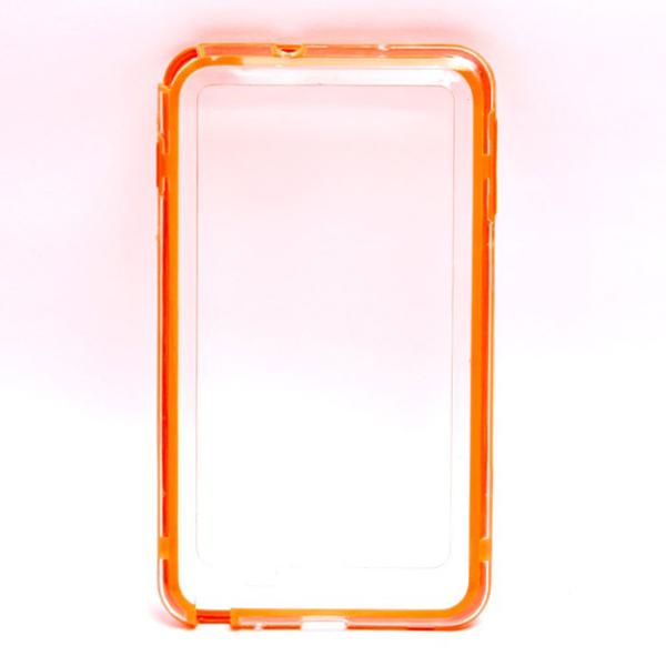 Protective Bumper Frame Hard Case for Samsung Galaxy Note i9220 - Orange