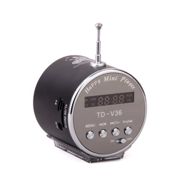 Mini Digital Speaker with TF /Micro SD Slot / USB Port /FM Radio - Black