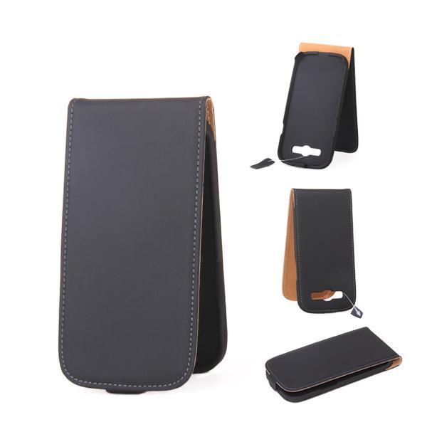 PU Pattern Folio Flip Pouch Case Cover for Samsung Galaxy SIII i9300 - Black