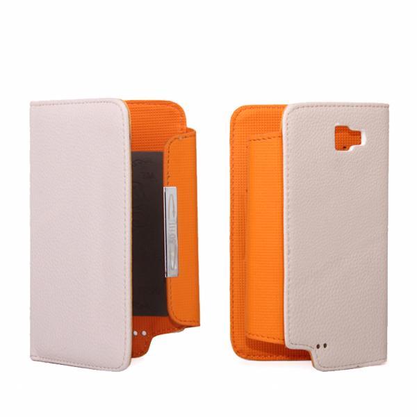 Folio Flip Pouch Case Wallet w/ Card Slot for Samsung Galaxy Note i9220 - Beige