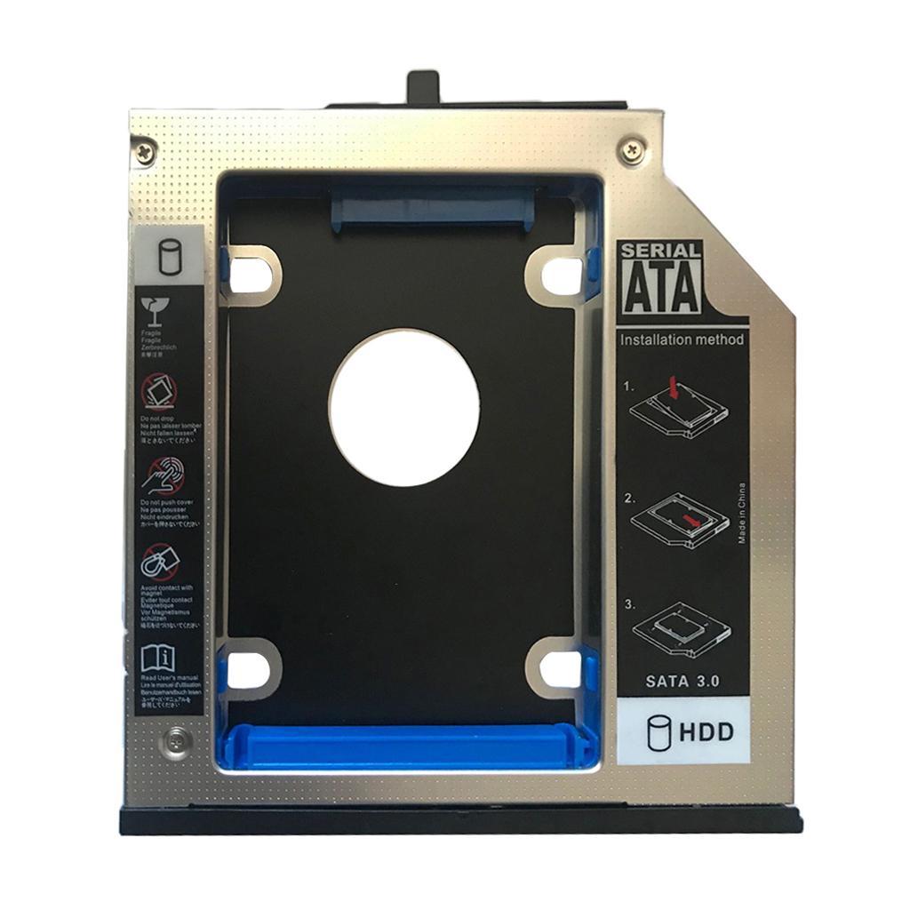 12.7mm SATA To SATA 2nd HDD Hard Drive Caddy for IBM Lenovo Thinkpad T510 W510 Aluminum