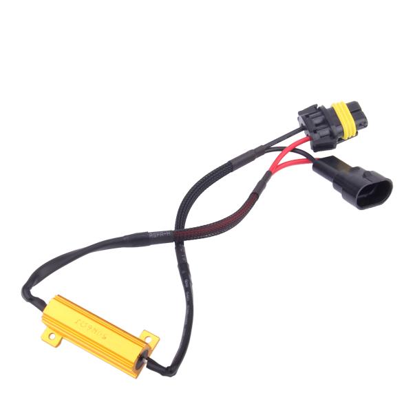 9006 LED Decoder Load Resistor Wiring Warning Canceller 12V 50W