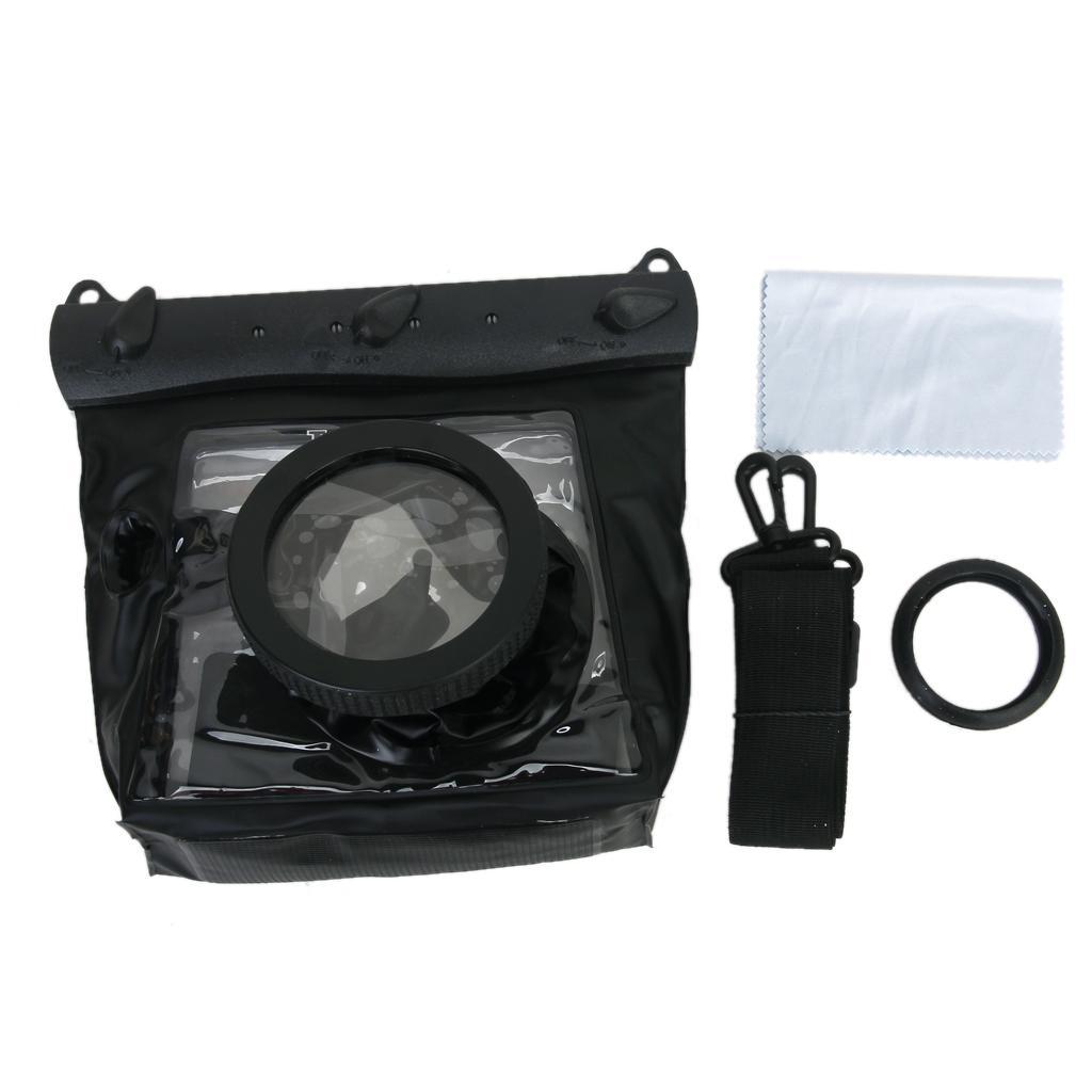 Tteoobl GQ-518M Universal 20M Waterproof Diving Rafting Surfing Swimming Sauna Bag Case Pouch for Digital SLR Camera 10*8cm Lens - Black