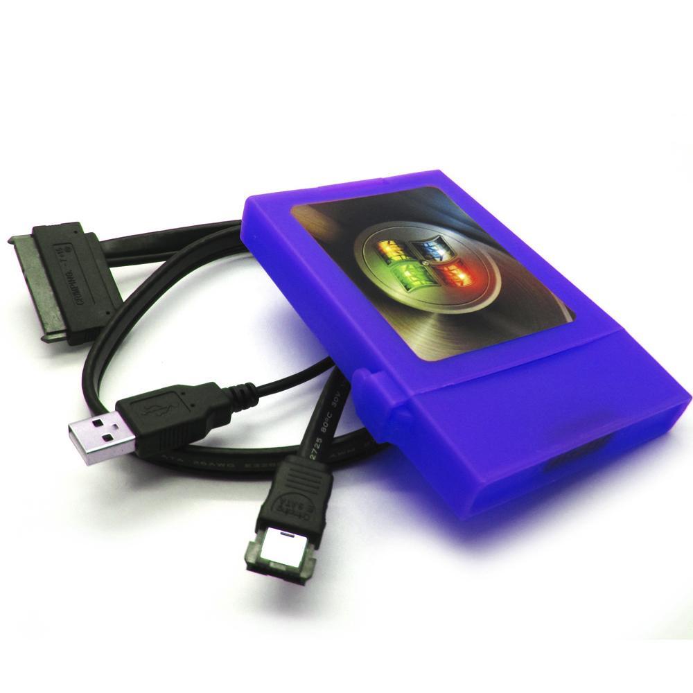 2.5 Inch ESATA SATA Hard Disk Box Mobile Transfer Transmitter for Notebook