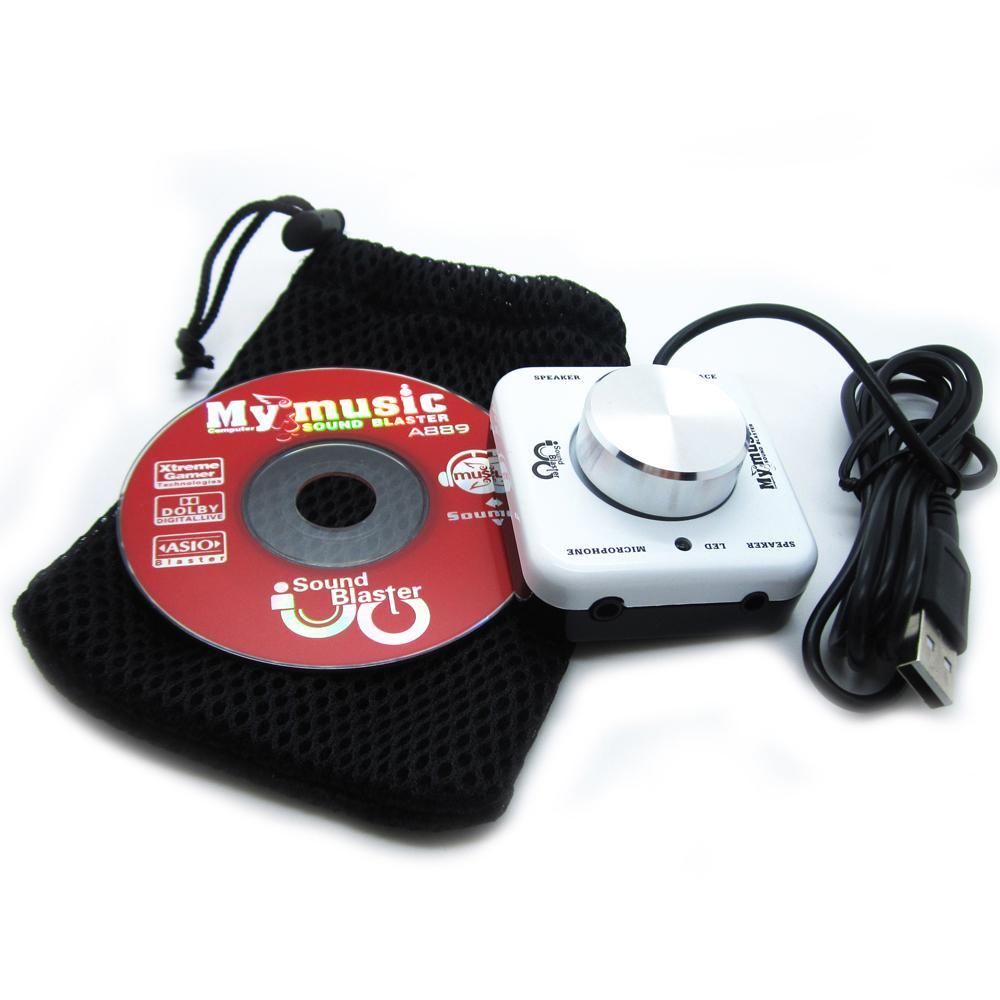 7.1 Channel Digital Sound Blaster USB 2.0 External Sound Card A889 for Notebook Computer TV CD Player