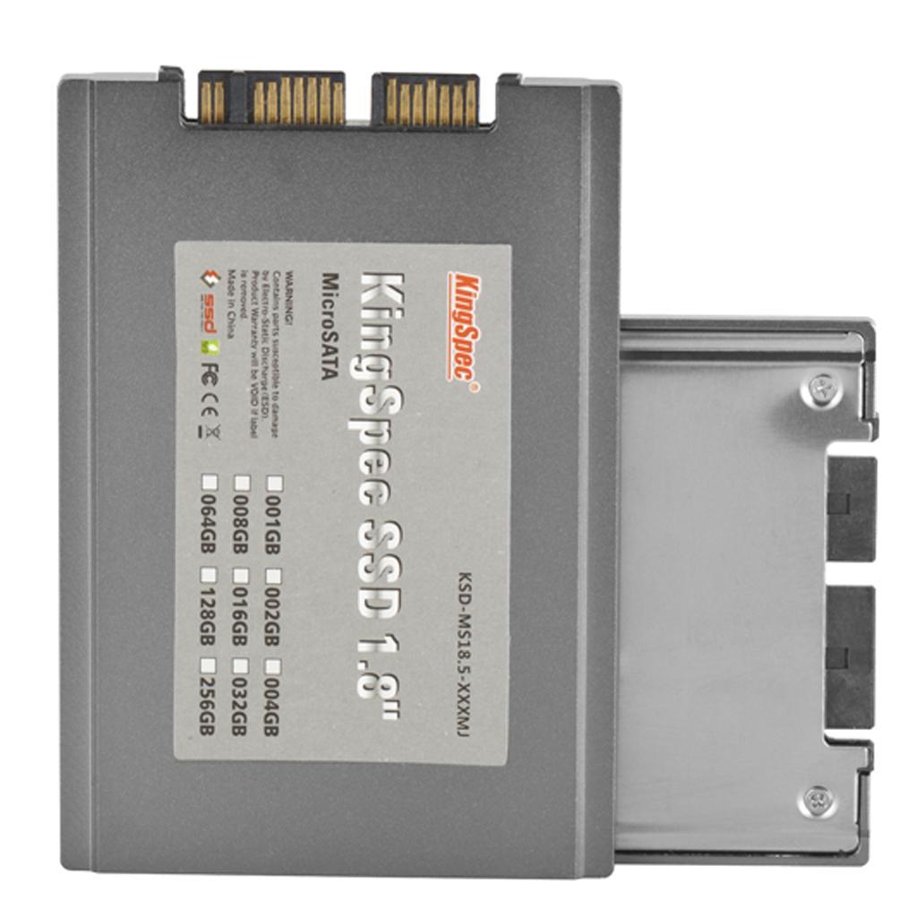 KingSpec KSD-MS18.5-008MJ 1.8 inch Micro-SATA 8GB Solid State Drive MLC SSD