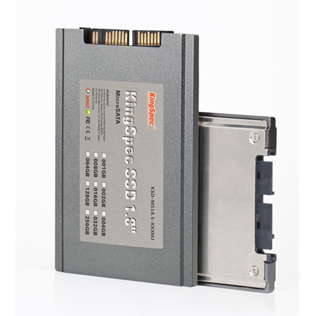 KingSpec KSD-MS18.5-128MJ 1.8 inch Micro-SATA 128GB Solid State Drive MLC SSD